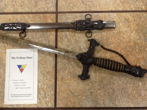 Antique fraternal Knights of Pythias Sword early version German knight AWESOME