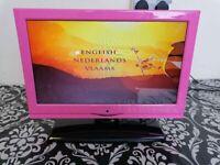 "12v Alba pink 16"" tv dvd combi"