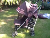 Pushchair / stroller with footmuff and rain cover zeta vooom