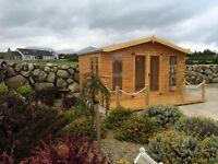 14ft x 10ft summerhouse with 4ft Veranda