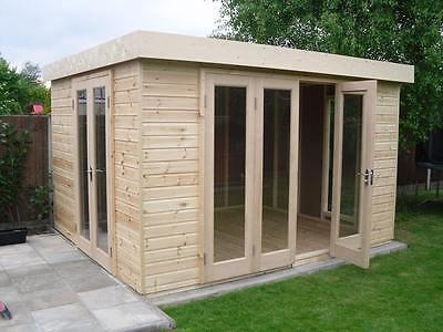 10' x 10' Moderno Summerhouse - Garden Building - Garden Office - Garden Room