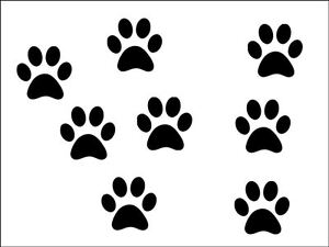 New 18 x small black paw prints vinyl stickers  decal 3cm x 3cm