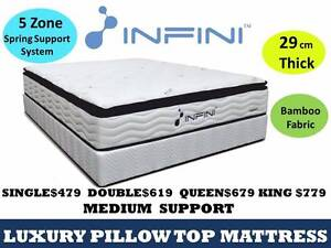 KING MATTRESS Bed Pocket Spring Pillow Top Indoor Bedroom  M3 Campbellfield Hume Area Preview