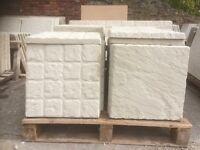 Cobble effect 450x450 concrete slabs