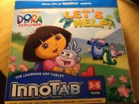 INNoTAB games,Dora the explorer 3-5years, girls games, good condition, reduce for quick sale.