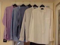"Men's clothes bundle no.4 - 5 x 19"" collar Thomas Nash shirts"