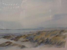 Watercolour, signed by artist, coastal scene