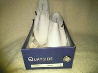 Ladies Quayside White Slip On Pumps New (boxed)