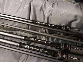 3 x CHUB RS+50mm Rods & 2 CHUB Multi Rod Bags