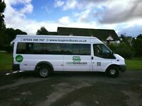 Minibus Hire Services, Male/Female Drivers available. Card Payments Accepted. Superb Service.