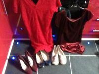 Large bag of women's clothes/shoes,shoes size7,blouses dresses etc,10/12/14,ex cond,pos loc delivery