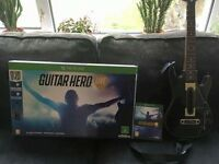 xbox one guitar hero's live guitar, usb and game. boxed