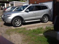 Hyundai Santa Fe Limited CRTD, 08, Automatic, 7 seater estate, silver, 122000 miles,