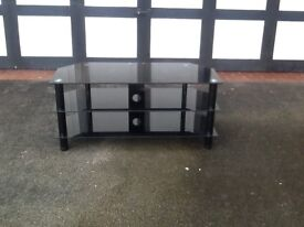 John Lewis black glass TV stand immaculate