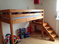Single loft bed with steps/made to order