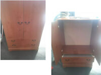 LOVELY WOOD TALL BOY 49.5 INCHES HIGH X 31 WIDE X 19 DEPTH WITH DRAWERS LOTS OF STORAGE SPACE