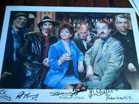 A3 SIZE HORIZONTAL ONLY FOOLS AND HORSES POSTER SIGNED BY THE STARS