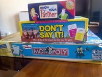 poker,monopoly and know your partner