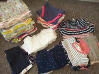job lot baby girl's clothing Mamas and Papas, M&S, Gap, Next,Bluezoo 49 ITEMS