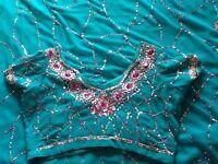 Turquoise Sari For Sale