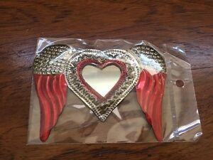 Mexican Folk Art - Tin winged heart Footscray Maribyrnong Area Preview