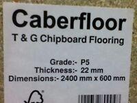 10x New P5 Caberfloor T&G Chipboard Flooring 22 X 600 X 2400MM
