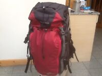 Quecha SORCLAZ 50(litre)superb quality,excellent condition-used for 1weekend travel rucksack