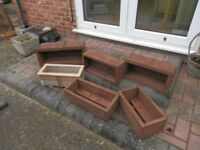 Wooden flower tubs and troughs from £5.