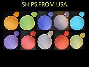 10 Pcs Assorted Nylon Frisbees or Foldable Fans - Free Shipping From USA(8-FB)