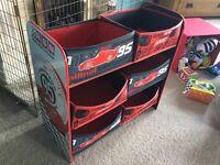 Disney Pixar cars toy storage unit
