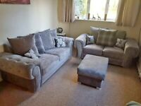 Ask for details BRAND NEW VERONA Chesterfield Corner Sofa In Grey With Cushions ORDERS NOW