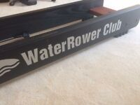 Water-rower club. Solid wood natural rowing action