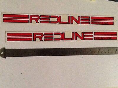 old school bmx decals stickers redline FLIGHT crank white on red