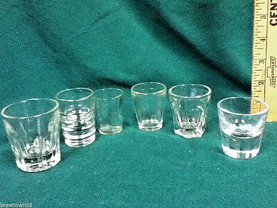 Unique shot glasses 6 clear glass plain shots shooters barware glassware AX8