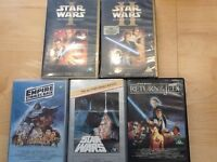 StarvWars VHS videos. First 5 films