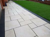 slabs, bricks, paving, artificial grass, digging, foundation
