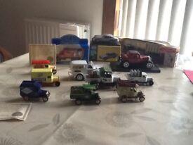 Vintage miniature model cars