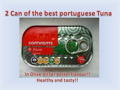 2Cans of Portuguese Tuna Fish in olive oil120g 4,23oz!Canned tuna!Best