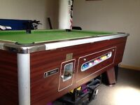 Pool table for bar or games room.