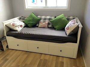 White IKEA Hemnes Day Bed with 2 mattresses Hobartville Hawkesbury Area Preview