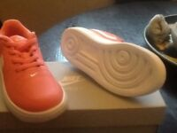 Nike force 1 trainer size UK 9.5 pink and white trainers..never worn brand new still in box