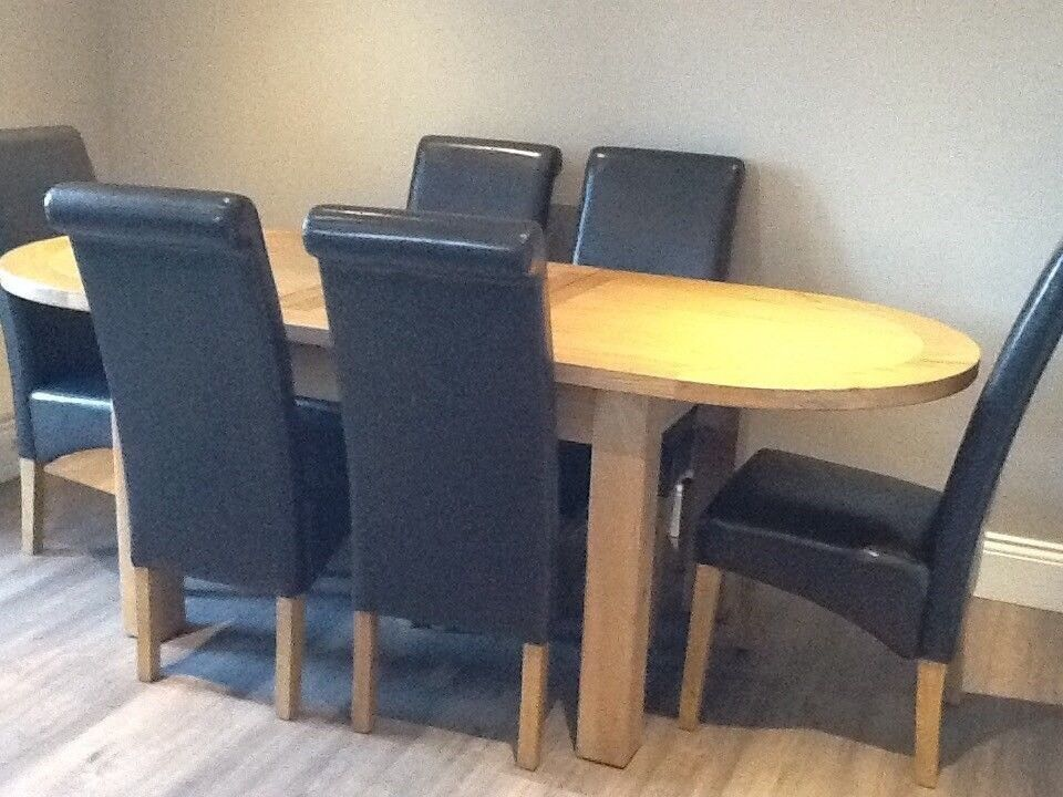 Remarkable Canterbury Oak Ext Dining Table Oval 1 8 2 2M 8 Black Chair Used In Willenhall West Midlands Gumtree Andrewgaddart Wooden Chair Designs For Living Room Andrewgaddartcom