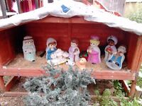 nativity scene with the light up characters
