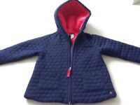 Jasper Conran light weight quilted girls jacket navy