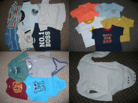 Bundle of 33 Summer clothes for boy 6-9mths/ 6-9 mths. Good condition. 60p each!