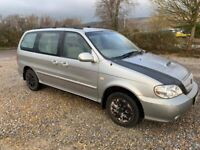 kia sedona 2.9 diesel 7 seater mpv 2004/private plate with 109k and a august 2021 mot..