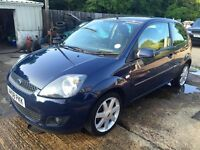 ** NEWTON CARS ** 08 FORD FIESTA 1.25 ZETEC BLUE, 3 DOOR, GOOD COND, FSH, MOT APR 2017, P/EX POSS