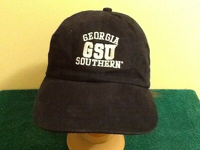 Georgia Southern Eagles Baseball Hat Black with Pink Ebroidered Lettering ()