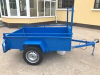 NEW 6ft x 4ft STEEL CAR TRAILER