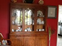 Dining Table and 6 chairs, plus Dresser all made of Yew